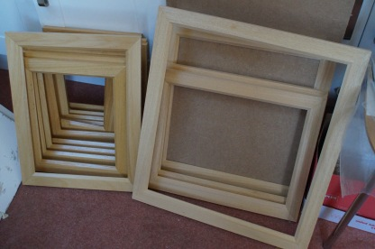 newly assembled frames