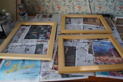 varnished frames