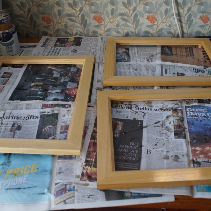 varnished frames