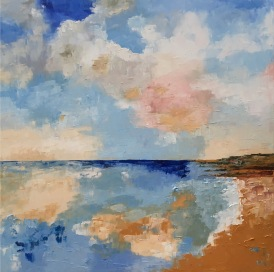 """Cloud Reflections - oil painting on canvas 24"""" x 24"""""""