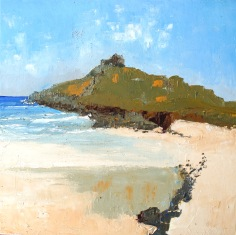 Plein air beach painting