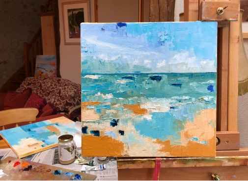 Windy Day at Whitstable work in progress