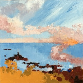 """Sunset at Low Tide 16"""" x 16"""" £ 275"""