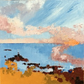 "Sunset at Low Tide 16"" x 16"" £ 275"