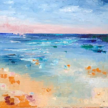 "Cornish Beach 2 - oil on canvas 24"" x 24"" £ 960"