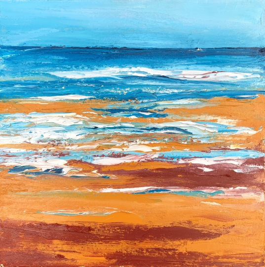 Surf and Sand oil painting seascape