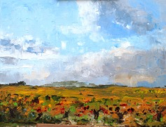 Plein air vineyard painting