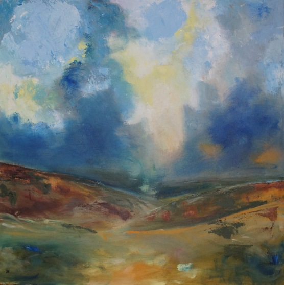 "Yorshire Moors - oil on hand stretched canvas 30"" x 30"" £ 540"