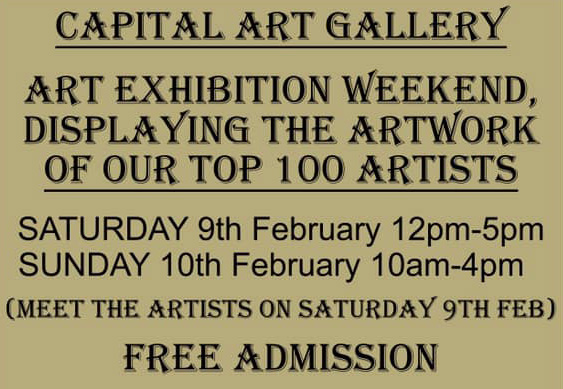 Capital Art Gallery top 100 artists