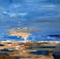 "Blue Seascape - oil on hand stretched canvas 24"" x 24"" £ 475"