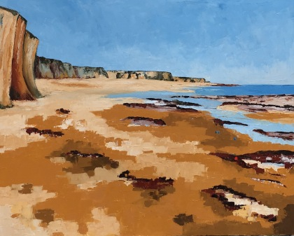 "Towards Margate - Botany Bay 30"" x 24"" oil on canvas"