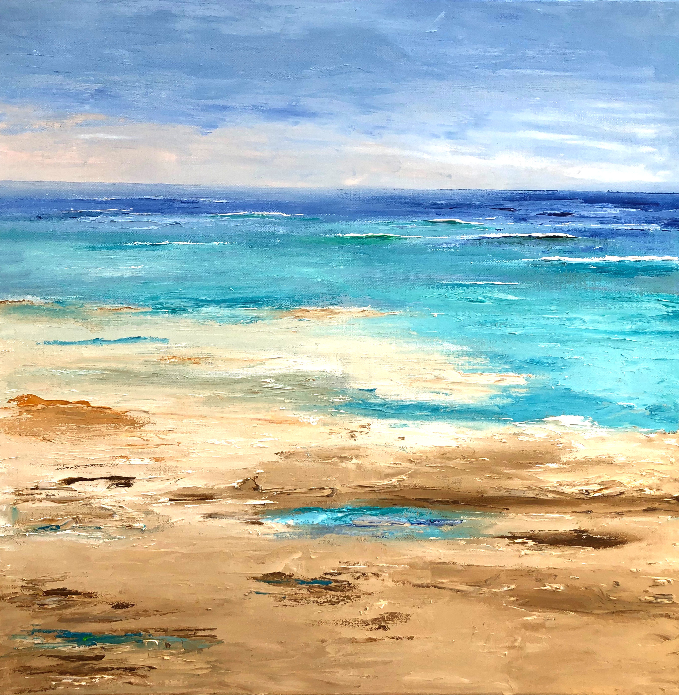 "Shoreline - oil on canvas 24"" x 24"""