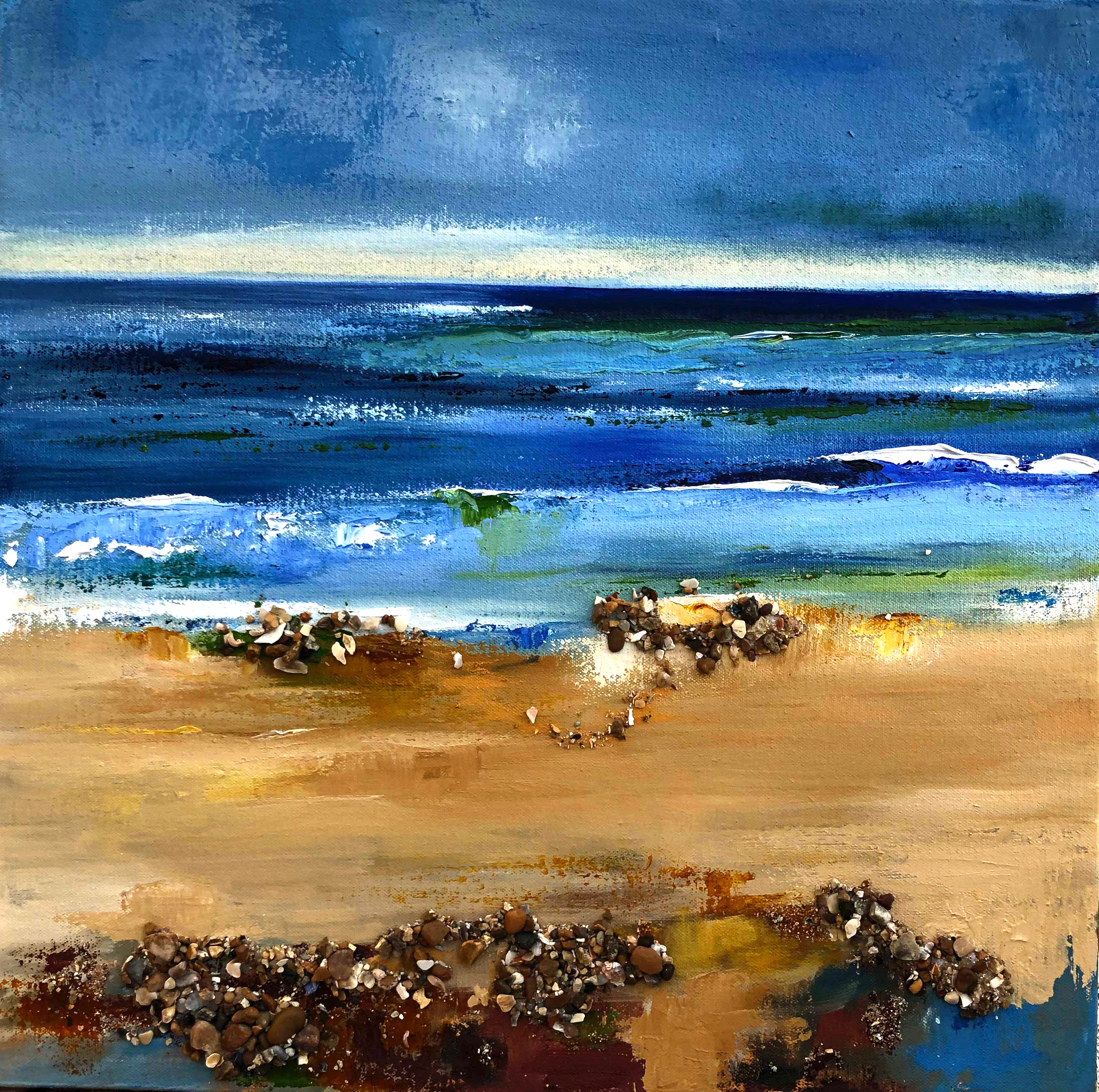 Shells on the Seashore small oil painting for saleSeashore