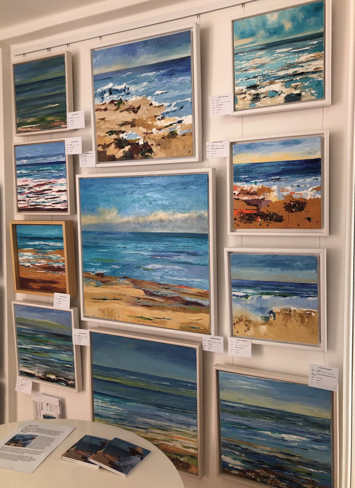 Ann Palmer Paintings in Eclectic Art Galley, Margate August 2020